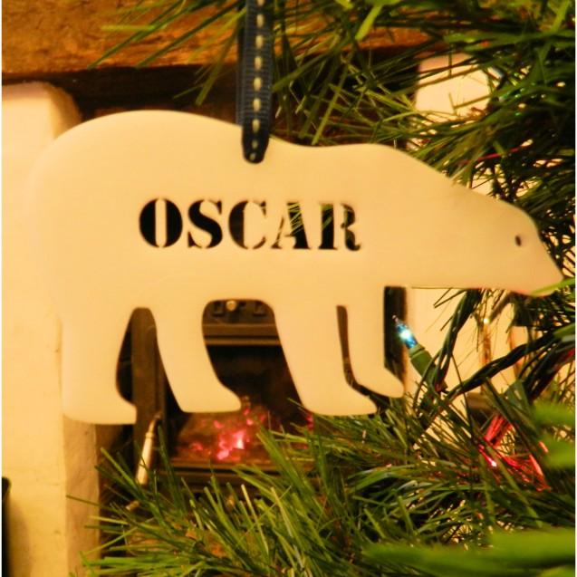 Personalised Polar Bear Decoration