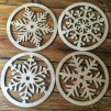 Snowflake Placemats and Coasters Set