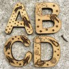 Wooden Space Letters
