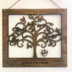 Hanging Name Heart for our Family Trees