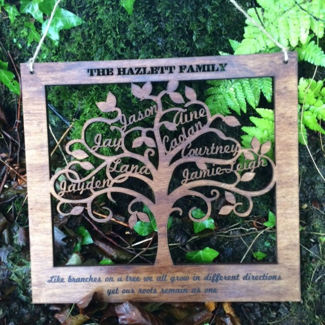 Wooden Family Tree Wall Art