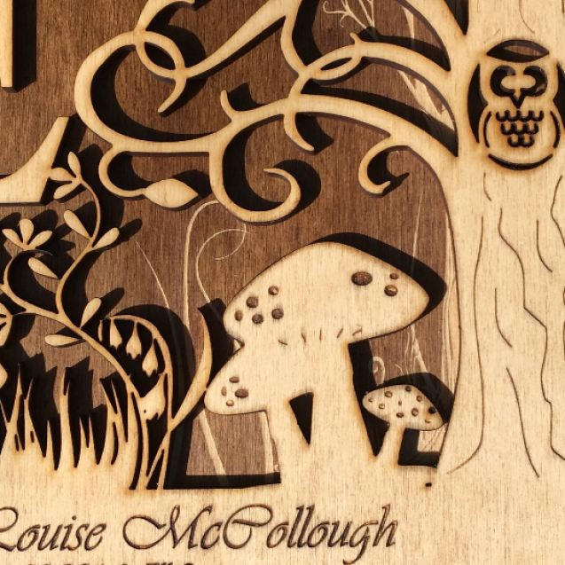 Personalised Woodland Letter Frame