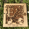 Personalised Woodland Letter Frame