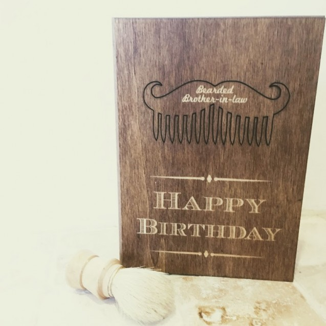 Personalised Beard Comb Card