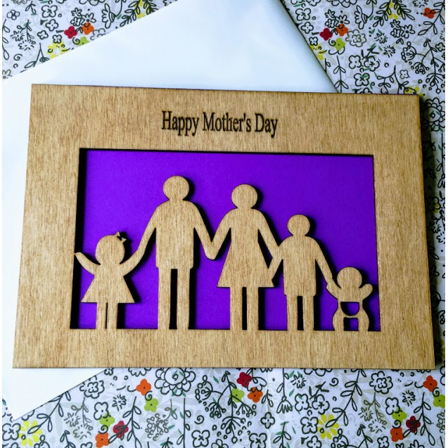 Wooden Family Card