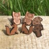 One pair of Wooden Woodland Earrings