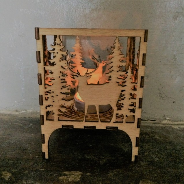 Wooden Christmas Lantern