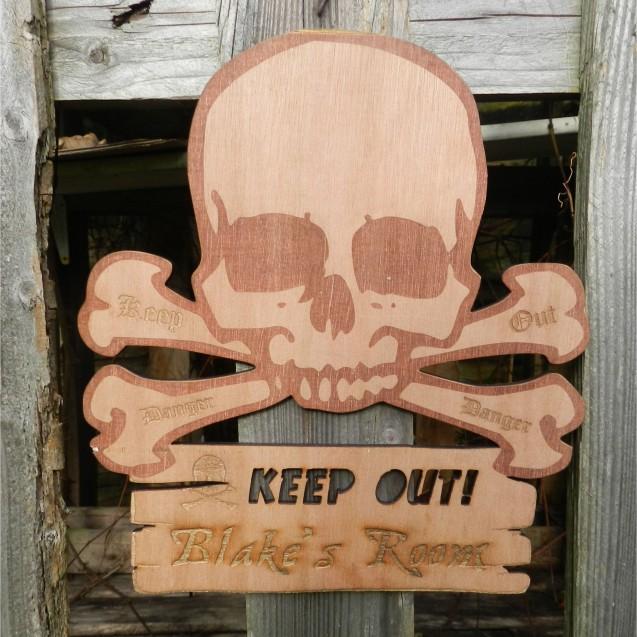 Personalised Pirate Door Plaque