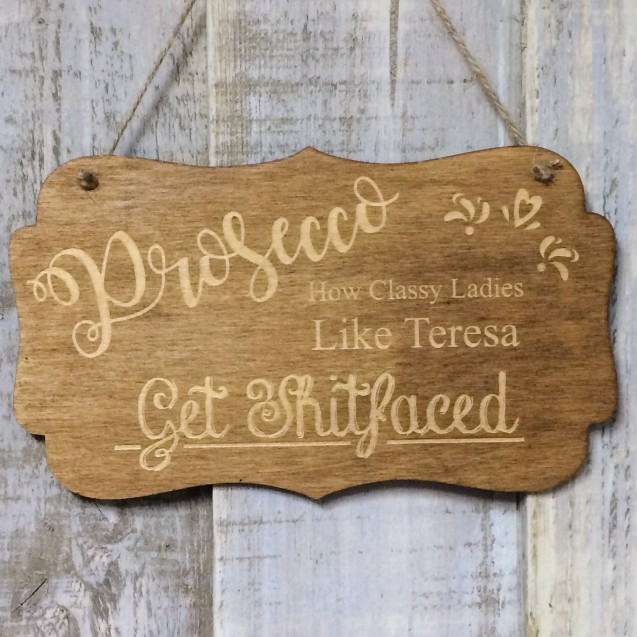 Personalised Prosecco Sign