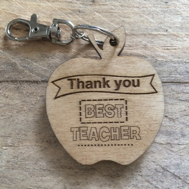 Thank You Teacher Keyring