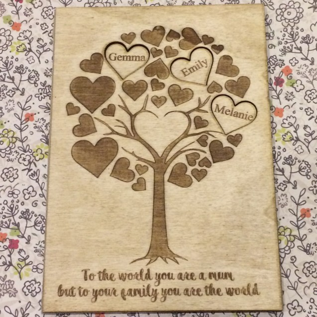 Mum's Family Tree Card