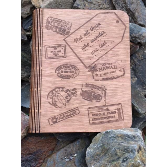 Wooden Travel Journel
