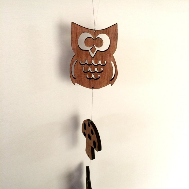 Owl and Toadstool Tota Bell Decorative Door Hanging