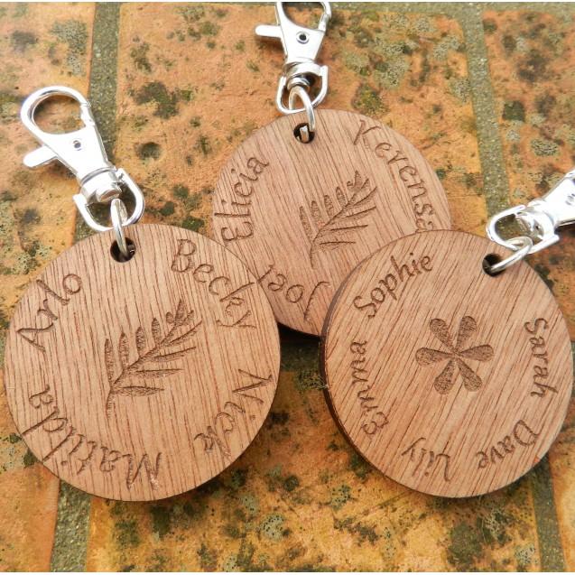 Wooden Family Keyring