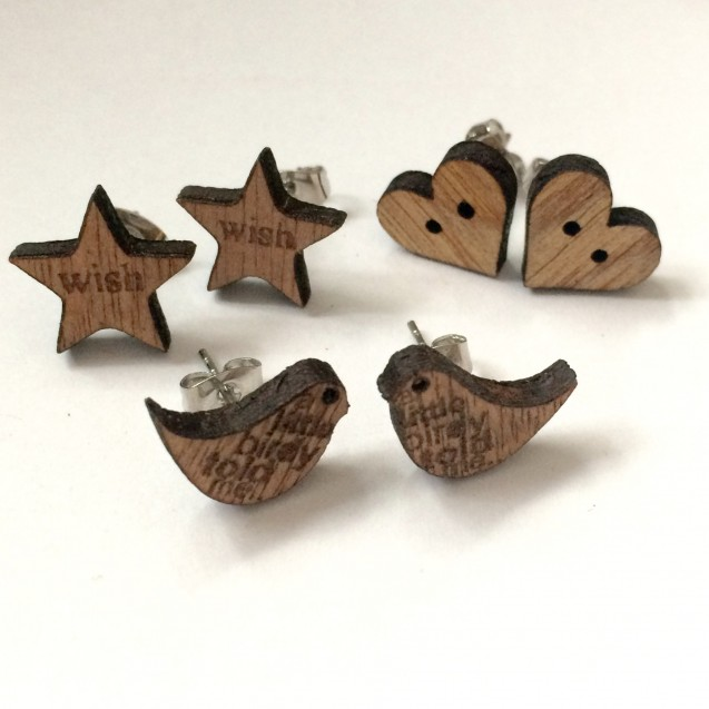 Small Wooden Earrings