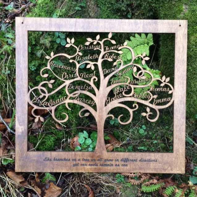 Large Wooden Family Tree Wall Art