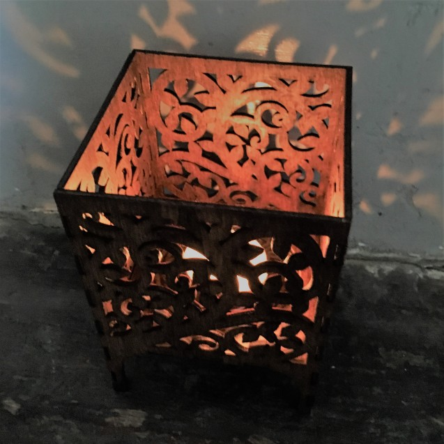 Wooden Tea Light Lantern