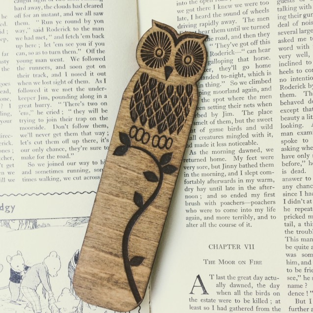 Wooden Owl Bookmark